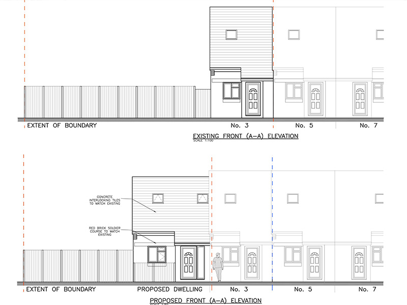 New-build 2-bed House planning